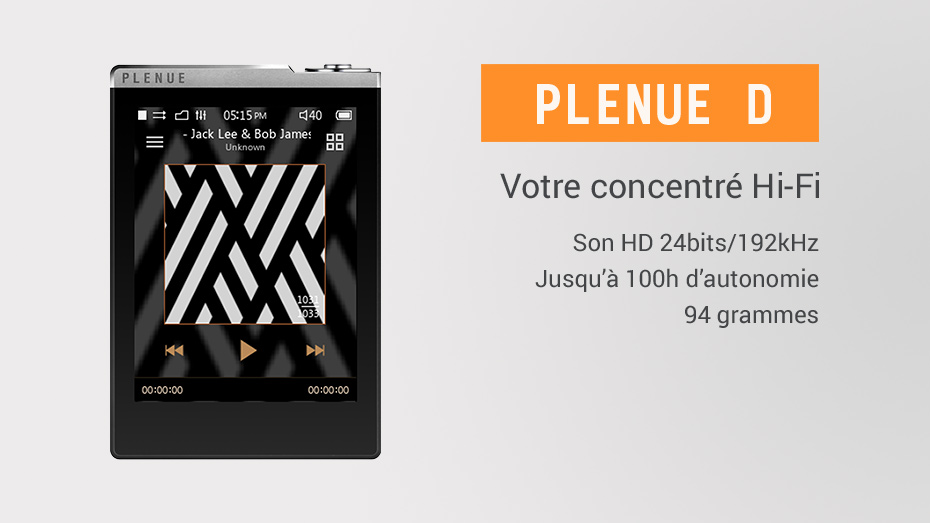 baladeur audiophile Plenue D